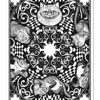 Disney Alice Through The Looking Glass Cheshire Cat Coloring Poster