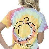 Simply Southern Save The Turtles Tee - Tie Dye