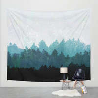 Woods Abstract Wall Tapestry by Mareike Böhmer Graphics