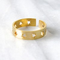 "Gold ""Ring of Stars"" Rings by Kloica Accessories"