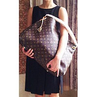 LV Fashion Ladies'Printed Bag Hot Selling Single Shoulder Bag Shopping Bag LV pattern coffee