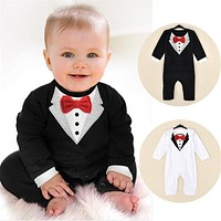 Toddler Baby Boy Rompers Spring Baby Clothing Sets Gentleman Roupas Infant Jumpsuits Baby Boy Clothes born Baby Clothes
