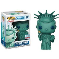 FUNKO Pop Freddy Funko Statue Of Liberty New York City Limited Edition Action Figure Model Pvc Collection Toys For Children Gift