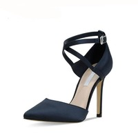Classic Suede Leather High Heels Shoes