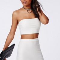 Missguided - Bandeau Bralet White