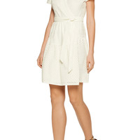 Kaley wrap-effect broderie anglaise cotton dress | Diane von Furstenberg | US | THE OUTNET