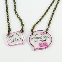 Mean Girls Inspired Quote Necklace