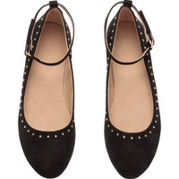 H&M Ballet Flats with Ankle Strap $17.99