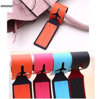 Random Color 1PCS Attractive Leather Travel Bag Trip Luggage Name Holder Label ID Tags Bag parts