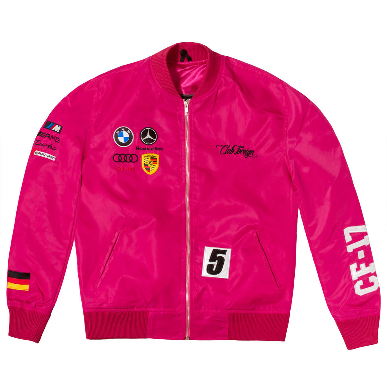 Image of Club Foreign Germany Racing Jacket Pink