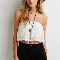 Sexy Lace Strapless Crop Top Women White Cropped blusa Blouse Casual feminino ropa mujer veste femme Boho Shirt Voile Gypsy Tee