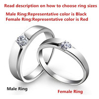 1PCS New Stylish Simple Style Couples Jewelry His OR Hers 925 Sterling Silver Crystal Drill Ring ,Unique Couples Wedding Band Rings,Color Silver ,From Milkle Gift = 1930350404