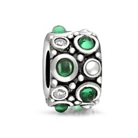 Bling Jewelry Green Deco Charm