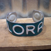Colorado Bracelet Recycled - Repurposed - Upcycled Colorado License Plate Bracelet/Cuff