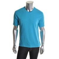 John Ashford Mens V-Neck Knit T-Shirt