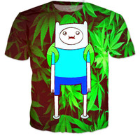 Adventure Time Weed T-shirt