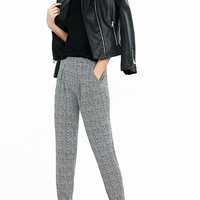 Abstract Print Soft Pleated Pant from EXPRESS