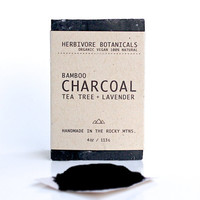 Organic Bamboo Activated Charcoal Soap. Handmade Vegan Soap. Essential Oils. 100% Natural.