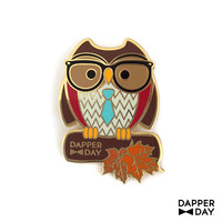 DAPPER DAY Owl Pin