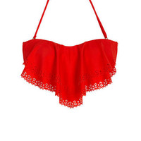 Jessica Simpson Laser Cut Bandeau & Jessica Simpson Ruched Hipster