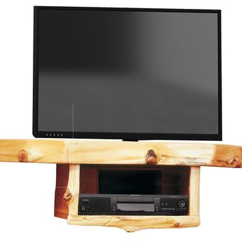 Cedar Corner TV Shelf with DVD/DVR Shelf