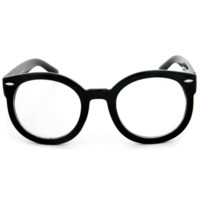 Round Nerd Clear Glasses