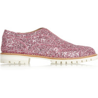 Finds - + L' F Shoes Gipsy Ilga glitter-finished leather brogues