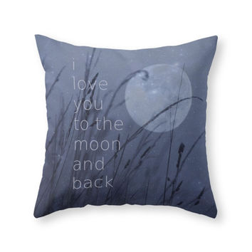 Society6 I Love You To Th Throw Pillow