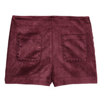 Imitation Suede Shorts - from H&M
