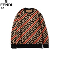 Fendi 2019 new women's wild double F letter striped knit sweater #2