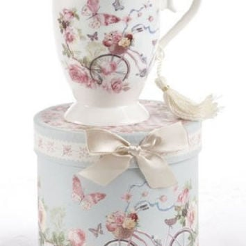 Porcelain Tea / Coffee Mug in Gift Box - Cycle by Delton
