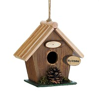 Birdhouse Ideas Pine Cone Rustic Wood Birdhouse