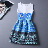 Vintage Printing For Women Party Sexy Female Club Dresses
