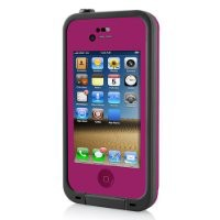 Waterproof Shockproof Case Life Dirt Proof Durable Cover Fits Apple Iphone 4 4s (no box) (Hot Pink)