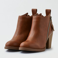 AEO Side Zip Bootie , Tan