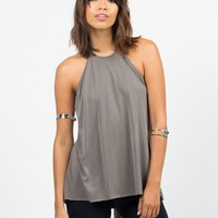 Halter Split Back Top