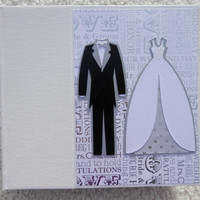 6x6 Chipboard Silver and Black Wedding Scrapbook Album