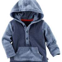 Hooded Colorblock Henley