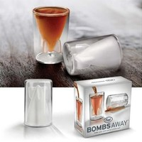 Fred & Friends BOMBS AWAY Shot Glasses, Set of 2