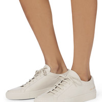Achilles Low-Top Grey Leather Sneakers