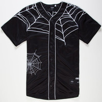 40Oz Nyc Spider Web Mens Baseball Jersey Black  In Sizes