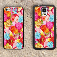 Pink Rose iPhone Case-Floral Pattern iPhone 5/5S Case,iPhone 4/4S Case,iPhone 5c Cases,Iphone 6 case,iPhone 6 plus cases,Samsung Galaxy S3/S4/S5-123