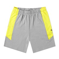 Extreme Block Shorts in Gray and Yellow
