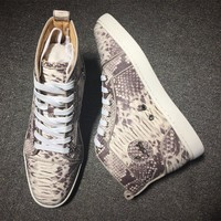 Cl Christian Louboutin Python Style #2278 Sneakers Fashion Shoes