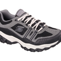 Skechers After Burn Memory Fit Tennis Shoes {Charcoal/Black} | 50124