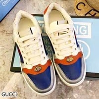 GUCCI New fashion contrast color couple sports  leisure shoes