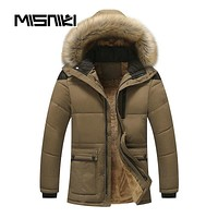 Hooded Men Winter Jackets Parka Casual Warm Winter Coat Men