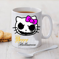 hello kitty nightmare happy halllowen mug