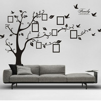 Size 50 cm x 70 cm Hotsale Removable Tree Birds Wall Stickers Room Decals Wall Art Wallpaper Black Wallpaper  (Color: Black) = 1651460676