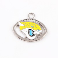 10pcs/lot Jacksonville Jaguars Charm Football Team Hanging Dangle Charms Floating Charms For Bracelets&bangles Jewelry Accessory